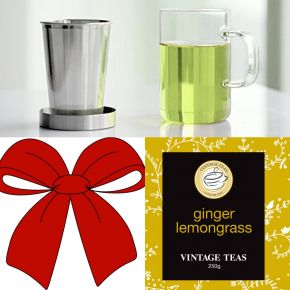 GIFT SET 4 - LOOSE TEA INFUSER CUP + 1 LOOSE LEAF TEA (250g)