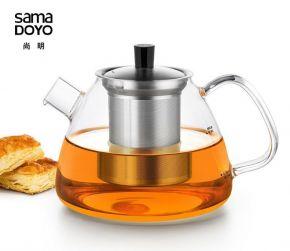 Samadoyo Borosilicate Glass Contemporary Design Infusion TeaPot DZ'001 1100ml