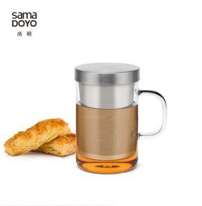 Samadoyo Borosilicate Glass Contemporary Design Loose Tea Infuser Cup S'050A 500ml