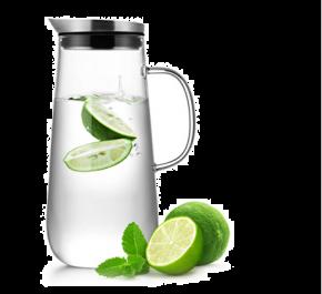 Samadoyo Borosilicate Glass Contemporary Design Table Water Jug S'067