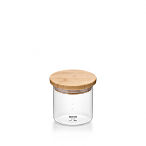 Samadoyo Borosilicate Glass Contemporary Storage Canister Jar Bamboo Lid S'101C 300ml