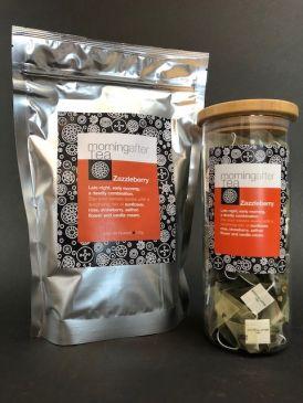Morning After Tea 50 Silken Pyramid Tea Bags - Zazzleberry + FREE Tea Canister